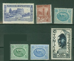 FRANCE COLONIES - TUNISIE -  Poste  YT N° 175 234 337A 342 344A 347 Neufs * - Tunisia (1888-1955)