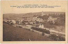 Saint Seine L'abbaye Vue Generale Gare De Train Tramway - Autres Communes