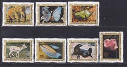 GUINEE EQUATORIALE N°   77, AERIENS 61 ** MNH Neufs Sans Charnière, 7 Val. TB (D8245) Faune, Flore - 1975 - Guinée Equatoriale