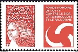 France Marianne Du 14 Juillet N° 3689 ** Luquet - Lutte Contre Le SIDA, La Tuberculose Et Le Paludisme - 1997-04 Marianna Del 14 Luglio