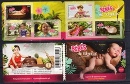 FRENCH POLYNESIA, 2018, MNH, BABIES OF POLYNESIA, FRUIT, BOOKLET - Enfance & Jeunesse
