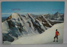 Monte Rosa Parete Nord  Lyskamm Cervino Alpinismo Scalatore Cartolina - Alpinisme
