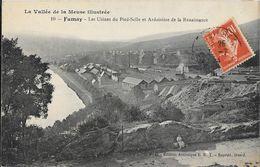 La Vallée De La Meuse Illustrée: Fumay, Les Usines Du Pied-Selle Et Ardoisière De La Renaissance - Carte E.R.T. N° 10 - Fumay