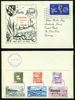FD Guernsey Herm Island FDC 1961 - Europa Cept Marken Von Herm Island Auf Der Rückseite - Guernesey