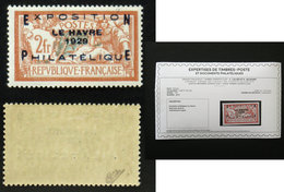 N° 257A 2F EXPO LE HAVRE 1929 TB Neuf N* Cote 875€ Signé Calves + Certificat - France