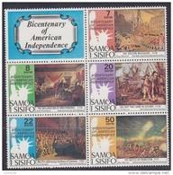 SAMOA, 1976 US BICENT BLOCK 5+LABEL MNH - Samoa
