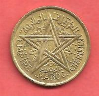 1 Franc , MAROC CHERIFIEN  , Alu-Bronze , 1945 , N° KM # 41 - Colonies