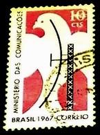 Brazil, 1967, Radar Aerial And Pigeon Mauve.Michel # 1138 - Usines & Industries