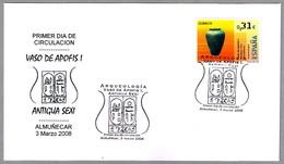 VASO DE APOFIS I - ANTIGUA SEXI. Almuñecar 2008 - Egiptología