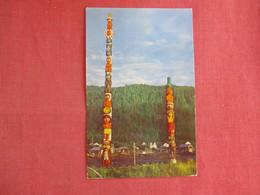 Totems At Wrangell Alaska  - Ref 3135 - Native Americans