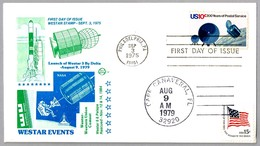 LAUNCH OF WESTAR 3 BY DELTA. Cape Canaveral FL 1979 - Cartas