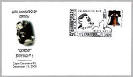 "50 Aniversario BIOFLIGHT 1 ""GORDO"". Cape Canaveral FL 2008 - FDC & Conmemorativos"