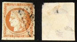 N° 5 40c CERES ORANGE Déf. Oblit Cote 500€ Signé Calves - 1849-1850 Cérès