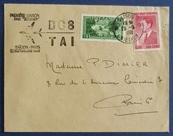"""1960 Cover, Saigon Vietnam - Paris France, Premiere Liaison Par """"Jetliner"""" - Viêt-Nam"""