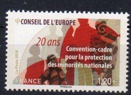 FRANCE, 2018, MNH,EUROPEAN COUNCIL, PROTECTION OF NATIONAL MINORITIES, 1v - Organizzazioni