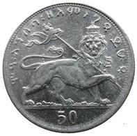 1930-1931 -  50 Matonas -  ፶ መቶኛ። (50 Ma.to.ña) - KM# 31- -  VF - - Ethiopia