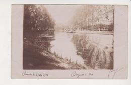 26671 Rennes 35F Carte Photo 1904-canal Ille Rance Ou Vilaine - Barque De Promenade - Rennes
