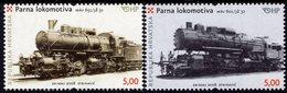Croatia - 2008 - Steam Locomotives - MAV 651 And 601 - Mint Stamp Set - Croatia