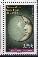 FRENCH ANDORRA, 2018, MNH, RELIGIOUS ART,ALTARPIECE OF SANATA CREU DE CANILLO,1v - Art