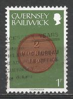 Guernsey 1979. Scott #174 (U) Coin On Stamp, 2 Doubles 1899 * - Guernesey