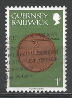 Guernsey 1979. Scott #174 (U) Coin On Stamp, 2 Doubles 1899 * - Guernsey