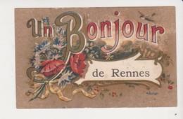 26674 Rennes 35F Un Bonjour De Rennes -dessin Bernngeau ? - Rennes