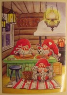 Brownies - Gnomes - Elves Are Baking Cookies  - Elf Is Eating Them And Having Crumbs - Åsa Gustafsson - Noël