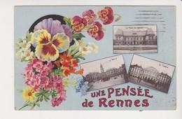 26675 Rennes 35F Pensee De Rennes Multivues - Fleurs -artaud Nozais Nantes - Rennes