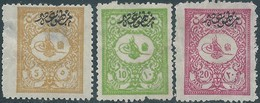 Turchia Turkey Impero Ottomano Ottoman 1901 Overprinted On 5-10-20PA - Not Used - Hinged - 1858-1921 Ottoman Empire