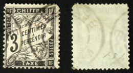 N° TAXE 12 DUVAL NOIR 3c Oblit Déf. Cote 28€ - 1859-1955 Oblitérés
