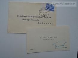 ZA165.20 Hungary  -Dr. Timár Mátyás  - Pénzügyminiszter 1964  New Year Autogram  Autograph - Autographs