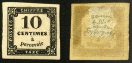 N° TAXE 2 10c Noir TB Neuf N* Cote 60€ - Postage Due