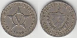 Cuba 5 Centavos 1946 KM#11.3 - Used - Cuba