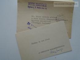 ZA165.21 Hungary  -OTP    1963  New Year Autogram  Autograph To Dr. Riesz Miklós - Autographs