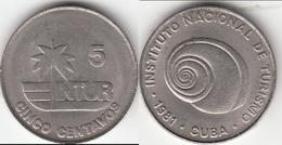 CUBA 5 Centavos 1981 (Thick 5) KM#412.1 - Used - Cuba