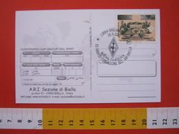 A.01 ITALIA ANNULLO - 2001 GAGLIANICO BIELLA 50 ANNI SEZIONE ARI RADIO MARCONI COMUNICAZIONI TELECOM VILLA GRIFFONE - Telecom