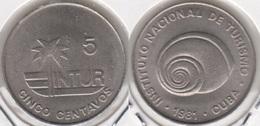 CUBA 5 Centavos 1981 (Thin 5) KM#412.2 - Used - Cuba
