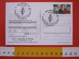 A.01 ITALIA ANNULLO - 2001 GAGLIANICO BIELLA 50 ANNI SEZIONE ARI RADIO MARCONI COMUNICAZIONI TELECOM - Physics