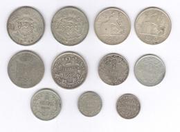 Lot 11 Monnaies Belgique En Argent - Belgium