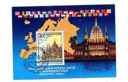 Carte Maximum  1983 Conference Inter Parlement - Maximum Cards & Covers