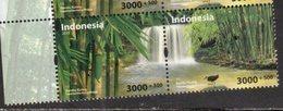 INDONONESIA, 2018, MNH, ENVIRONMENT, WATERFALLS, BIRDS, 2v - Environment & Climate Protection