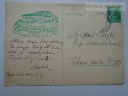 ZA165.23  Hungary  WWII  - Dr. Szepes László  - Galyatető  -  TP B787   - Grand Hotel Galya Nagyszálló - Covers & Documents