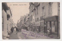 26678 Rennes Rue Saint Malo 176 ELD -café Morin, Mothel - Destinataire Chateau Montagne Guerche Bretagne - Rennes
