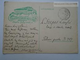 ZA165.24  Hungary  WWII  - 1943  Dr. Szepes László  - Galyatető  -  TP B787   - Grand Hotel Galya Nagyszálló - Covers & Documents