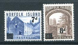 Norfolk Island 1958 Definitives Surcharges Pair MNH (SG 21-22) - Norfolk Island