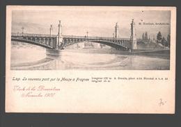 Liège - Le Nouveau Pont Sur La Meuse à Fragnée - Etude De La Décoration Novembre 1900 - Dos Simple - Liege