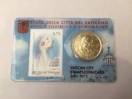 Stamp And Coin Card 1 Vatican 2011 Benoit XVI - Vatican