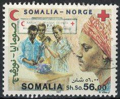 Somalie 1987 Oblitéré Used Croissant Rouge Somalien Et Croix Rouge Norvégienne - Somalia (1960-...)
