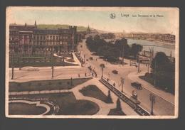 Liège - Les Terrasses Et La Meuse - Colorisée - Liege