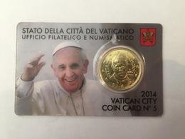Coin Card 5 Vatican 2014 Pape François - Vatican